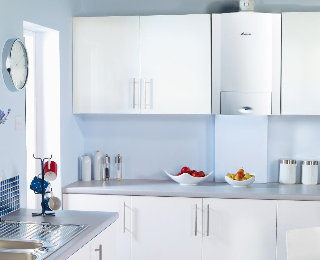 как спрятать газовый котел на кухне фото небольшая